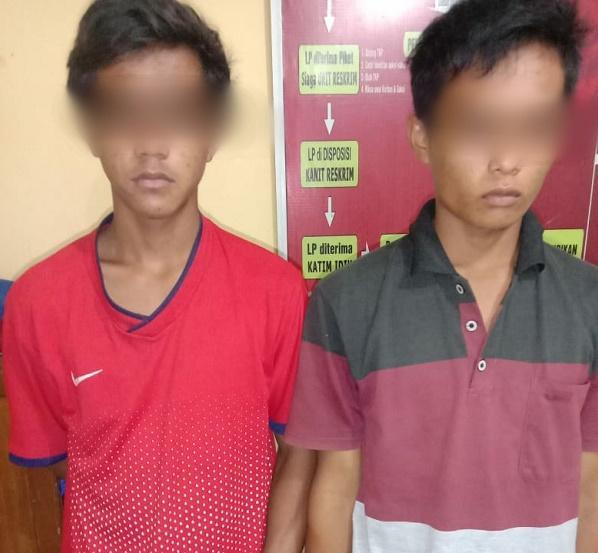 Polsek Firdaus Amankan Dua Remaja Pencuri Getah PTPN III Tanah Raja