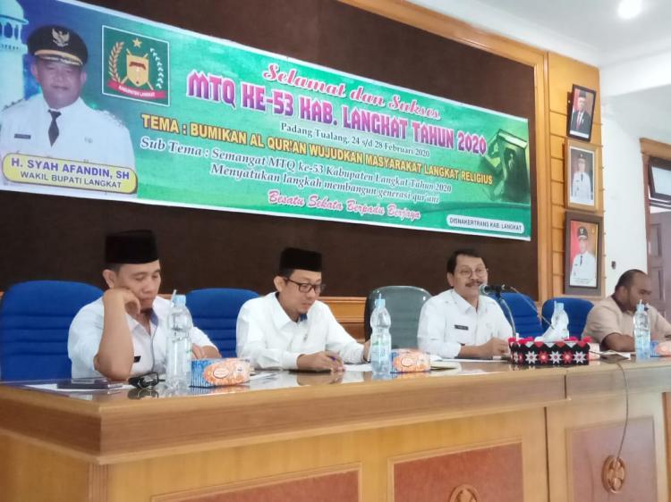 Pemkab Langkat Gelar Rapat Persiapan MTQ ke 53