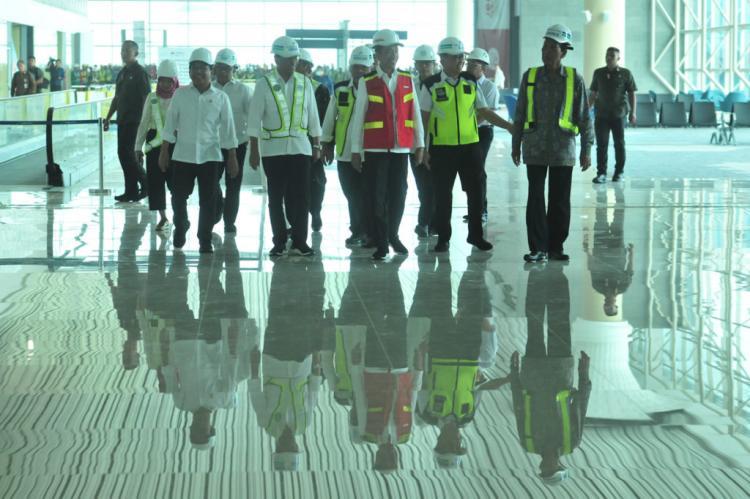 Target Selesai Akhir Maret 2020, Presiden Jokowi Tinjau Fasilitas Bandara YIA di Kulon Progo