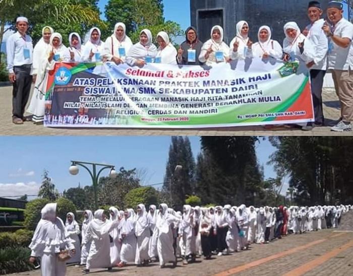 Praktek Manasik Haji, 475 Pelajar SMA/SMK se-Kabupaten Dairi Berkumpul di Taman Wisata Iman