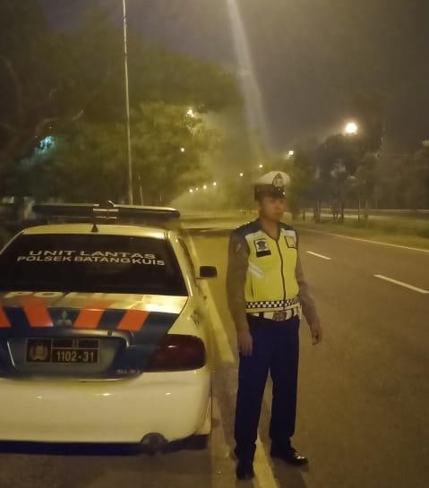 Polsek Batang Kuis Patroli Antisipasi Balap Liar di Jalur Bandara Kualanamu