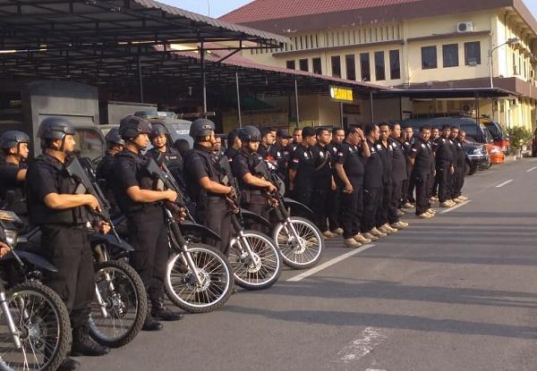 Tim Gabungan Narkoba Polrestabes Medan Laksanakan Patroli Terbuka di 9 Titik di Kota Medan