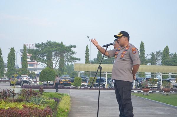 Tingkatan Sinergitas, Polresta Deli Serdang Apel Gabungan di Bandara Kualanamu