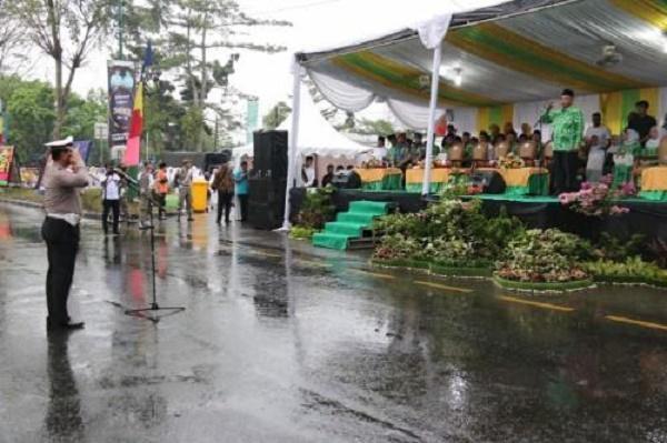 Meski Hujan, Pawai Taaruf MTQ ke-53 Tingkat Kota Medan di Jalan Ngumban Surbakti Berlangsung Meriah
