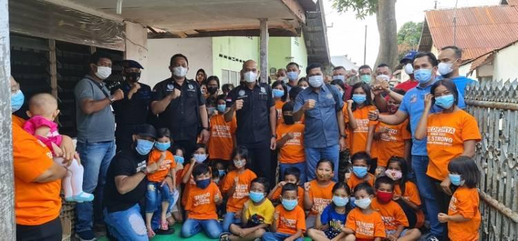 Kompol Oloan Siahaan Kunjungi Komunitas Kebaktian Anak-anak Yededhya, Kasat Narkoba Ajak Warga Kota Medan Disiplin Prokes