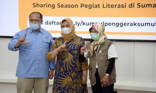 Bersinergi dengan Pegiat Literasi, Nawal Lubis Ingin Tingkatkan Kegemaran Membaca di Sumut