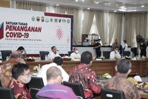 Plh Wali Kota Medan Wiriya Alrahman Ikuti Rakor Pencegahan Korupsi pada Pelayanan Publik