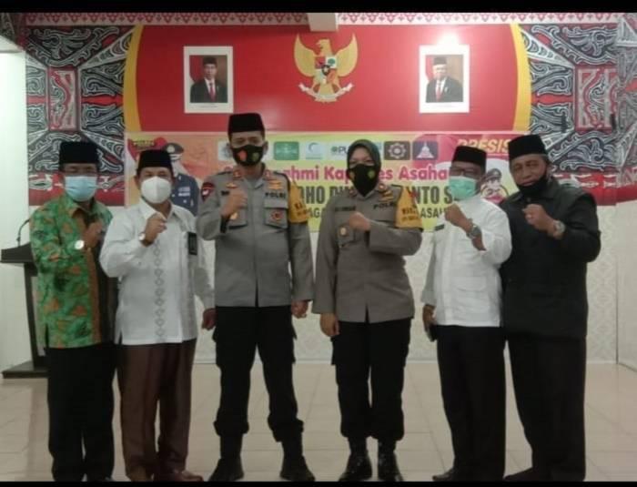 Kapolres AKBP Nugroho Dwi Karyanto Silaturahmi dengan Tokoh Lintas Agama, Dihadiri Kepala Kemenag Asahan