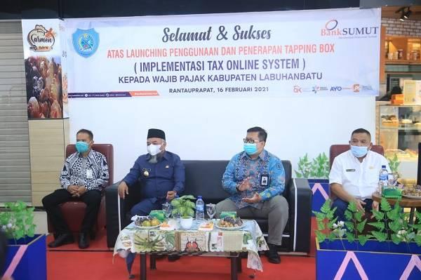 Bupati Labuhanbatu Launching Penggunaan Tapping Box Wajib Pajak