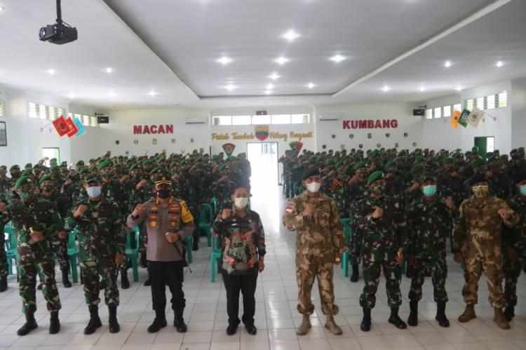 Kapolresta Deli Serdang Hadiri dan Sambut Kedatangan Komandan PMPP di Yonif 121 Macan Kumbang