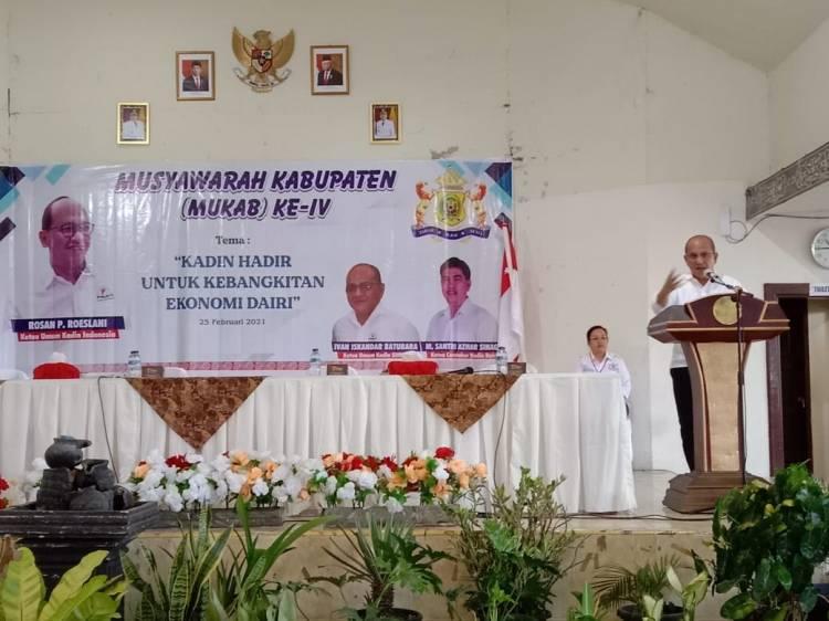 Dilantik Ketua Kadin Sumut, Jogi Tambunan Pimpin Kadin Dairi