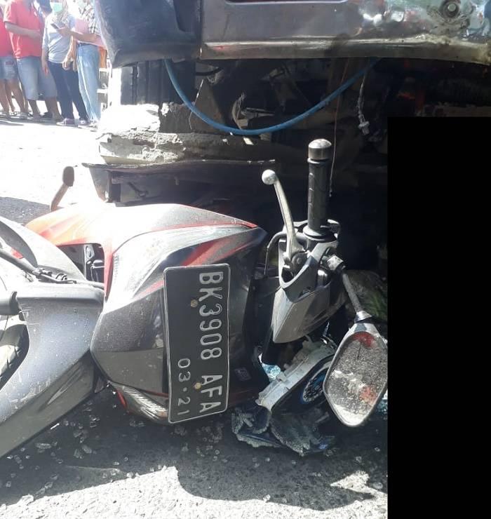 Kecelakaan Beruntun di Jalan Setia Budi Medan, Truk Tangki Sebabkan Pengendara Motor Tewas