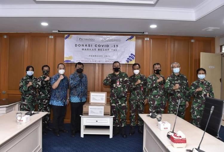 Puskes TNI Terima Donasi Material Kesehatan Covid-19 dari PT Protelindo