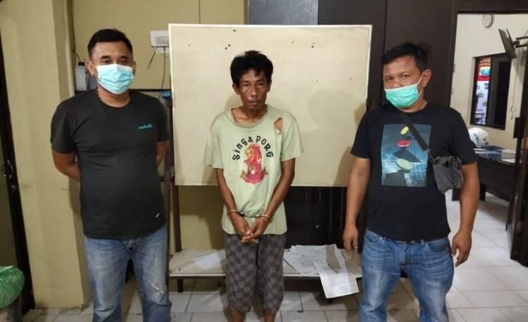 Sat Narkoba Polres Tanjung Balai Tangkap Pengedar Sabu di Pulau Simardan