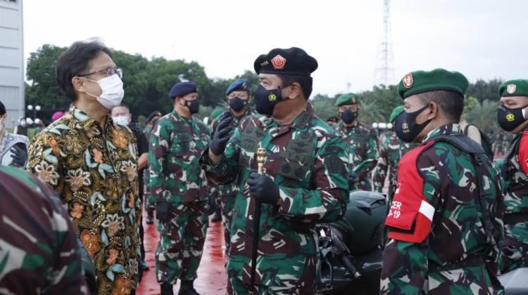 Panglima TNI : Tenaga Vaksinator TNI Siap Diperbantukan Ke Kementerian Kesehatan RI