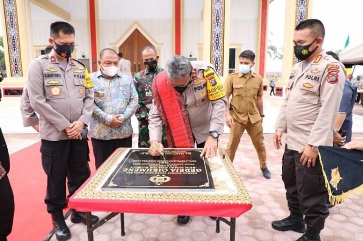Kapolda Sumut Martuani Sormin Resmikan Gereja Oikumene di SPN Hinai Langkat