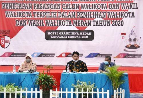 Penetapan Paslon Wali Kota Medan Terpilih Tahun 2020, Rapat Pleno Terbuka Digelar 18 Februari 2021