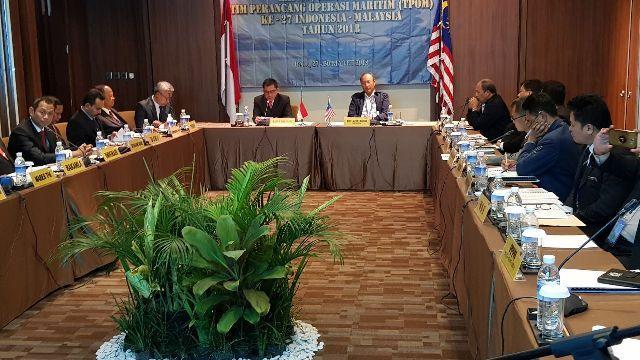 Rapat TPOM, Indonesia-Malaysia Sinergikan Patroli Kamla Selat Malaka