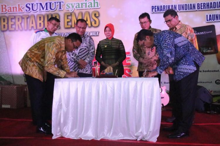 Launching Uang Elektronik, Bank Sumut Diminta Terus Bergerak Menjangkau Desa