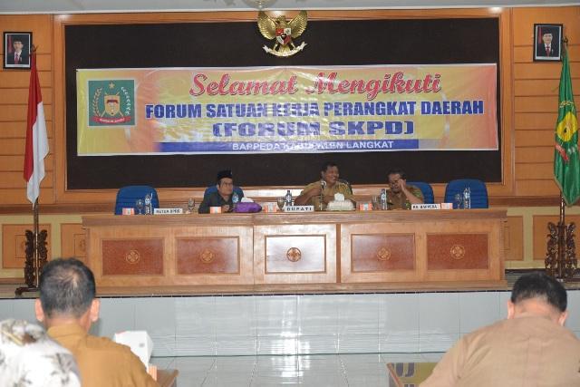 Bupati Langkat: Forum SKPD Mantapkan Musrenbang Kecamatan, Agar APBD 2019 Tepat Sasaran