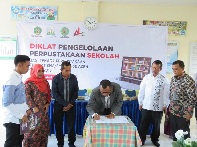 Pengelola Perpustakaan Sekolah se-Aceh Dibekali Diklat Perpustakaan