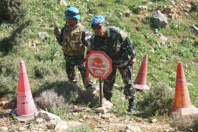 Satgas Indobatt XXIII-L/Unifil Kembali Temukan Granat Mortir di Distrik Az-Zakiyah