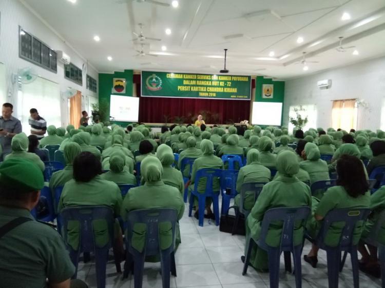 Sosialisasi Terkait Kanker Payudara dan Kanker Serviks dalam Rangka HUT ke-54 Dharma Pertiwi