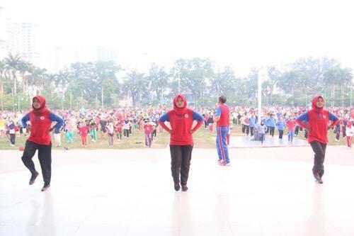 Ribuan Warga Kota Medan Ramaikan Car Free Day dan Senam Jantung Sehat