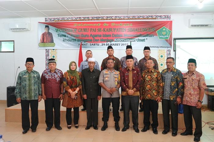 Kapolres Simalungun Buka Workshop Guru PAI, Bagikan Kartu Ustadz Mitra Kamtibmas