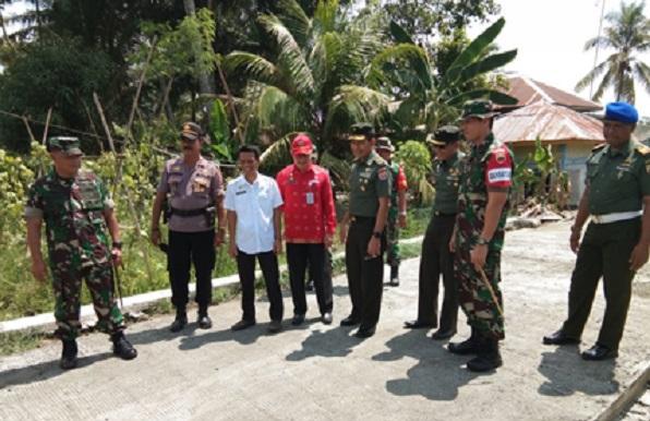 Laksanakan Pengawasan, Brigjen TNI Kunjungi Lokasi TMMD ke-104 Kodim 0208/Asahan