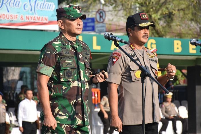 Pangdam I/BB dan Kapoldasu Pimpin Apel Gelar Pasukan PAM Pemilu 2019