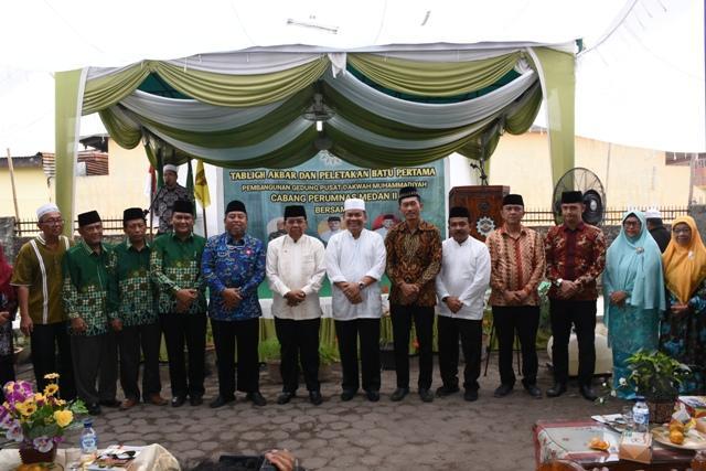 Wabup Deli Serdang Hadiri Peletakan Batu Pertama Pembangunan Gedung Pusat Dakwah Muhammadiyah