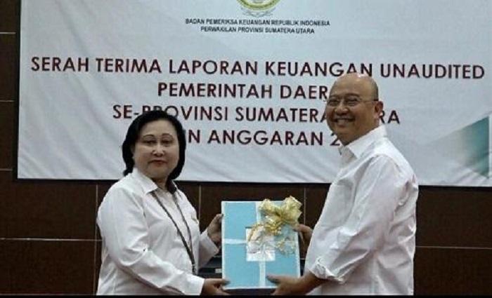 Walikota Medan Serahkan Laporan Keuangan ke BPK Perwakilan Sumut