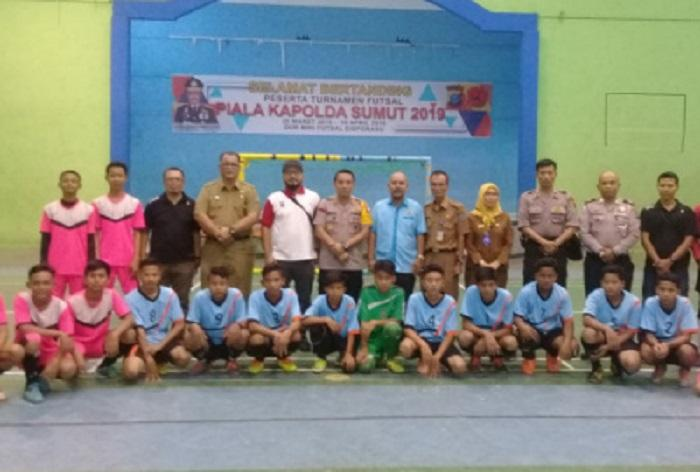 Turnamen Futsal Kapoldasu Cup 2019 Resmi Dibuka Kapolres Binjai