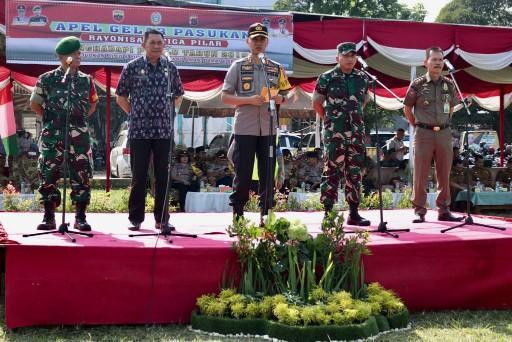 Wali Kota Medan Hadiri Apel Gelar Pasukan Kesiapan Pengamanan Pemilu
