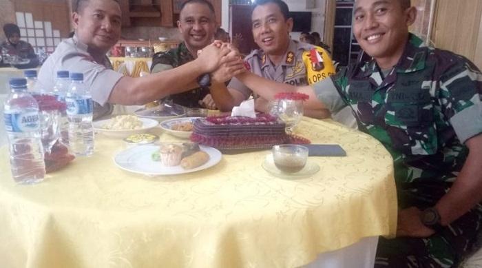Jelang Pemilu, Kapolres Binjai Coffee Morning dengan Komandan Batalyon TNI