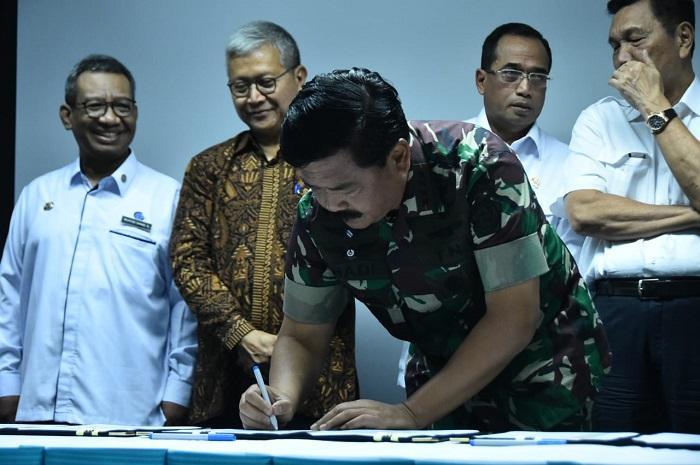TNI dan Kemenko Kemaritiman Tanda Tangani Nota Kesepahaman Bersama