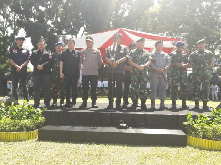 Kepala Kantor Zona Kamla Tengah Hadiri Gelar Apel Pasukan Pengamanan Pemilu 2019