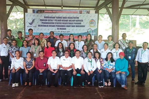 Jaga Kesehatan Sajian Makanan, BPOM Medan Gelar Pembinaan Fasilitator Desa dan Usaha Kecil di Tobasa