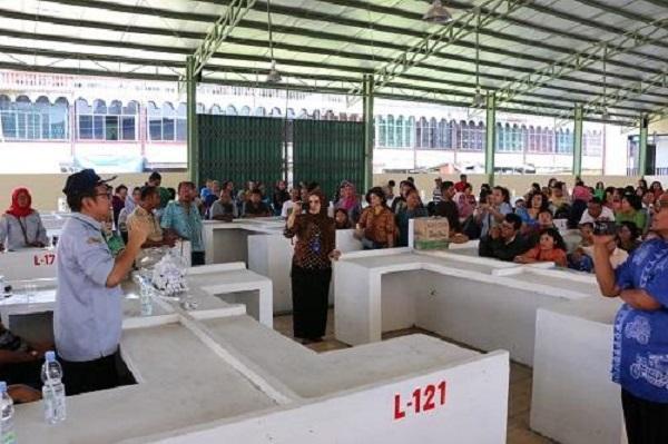 Pasar Kampung Lalang Diresmikan, Pada Pedagang Pun Senang