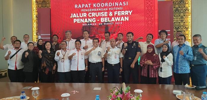 Pelindo 1 dan Kemenko Kemaritiman Gelar Rakor Pengembangan Jalur Cruise di Sumut