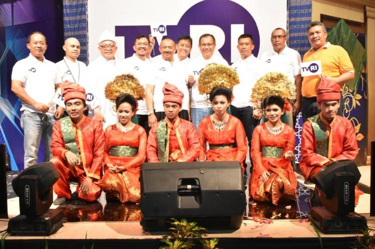Kapendam I/BB Hadiri Peluncuran Logo Baru TVRI di Medan