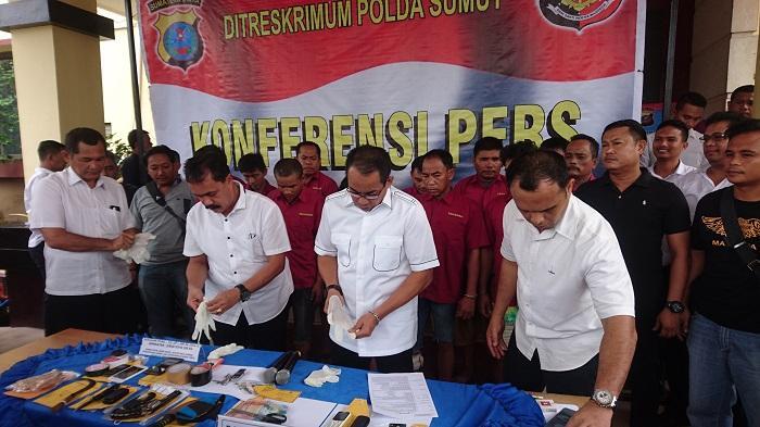 Lima Sindikat Spesialis Rampok Mobil di Jalan Tol Dibekuk Poldasu