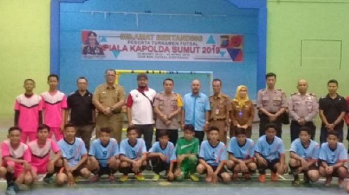 Buka Turnamen Futsal Kapoldasu Cup 2019, Kapolres Binjai: Jarang Curang dan Junjung Tinggi Sprotifitas