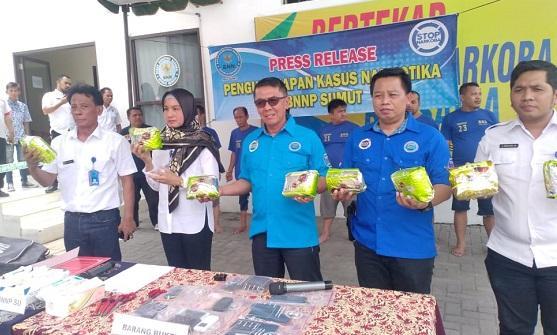 Dikendalikan dari Lapas Tanjung Gusta dan Simalungun, 8 Kg Sabu Berhasil Digagalkan BNNP Sumut