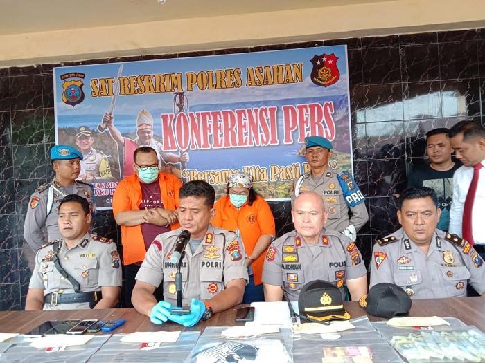 Tim Jatanras Polres Asahan Ringkus Pelaku Penipuan Mata Uang Asing Sindikat Nasional