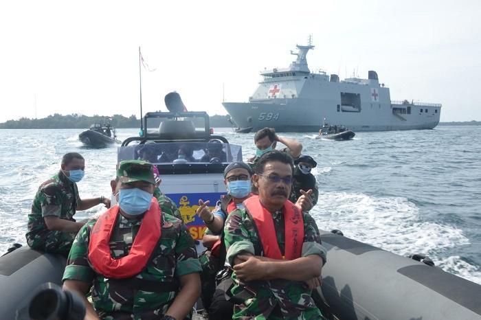 Kapal Perang Semarang 594 Jadi Kapal Markas Kogasgabpad di Pulau Sebaru