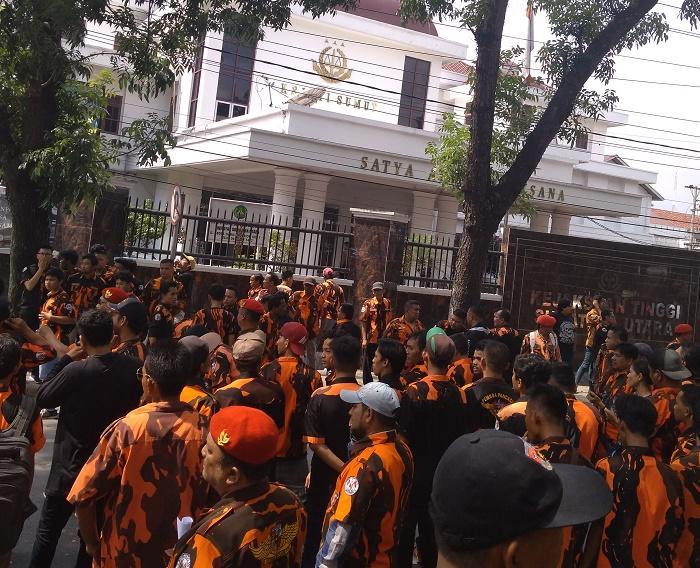 Kantor Kejati Sumut Diserbu PP Kota Medan, Terkait Pembunuhan Hassan Affandi
