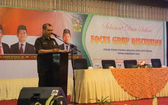 DPRD Medan Gelar FGD, Pemko Medan Dukung Pokok Pikiran Wakil Rakyat