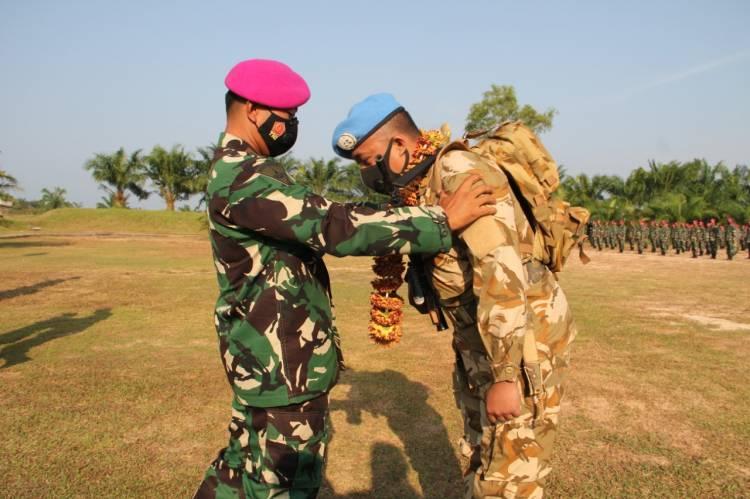 Setahun Bertugas Menjaga Perdamaian di Lebanon dan Kongo, Batalyon Infanteri 8 Marinir Tiba di Langkat